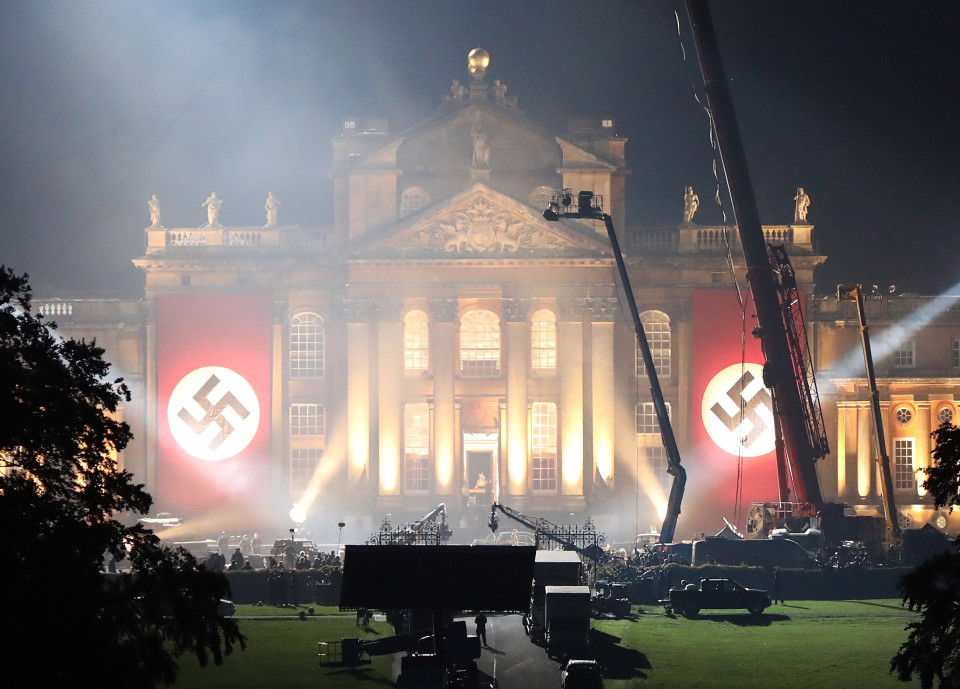 Picture Shows: GV, General View September 20, 2016 Pictures show the Nazi eagle and swastika on license plates to be used on vehicles during filming of 'Transformers: The Last Knight' causing upset at Blenheim Palace the birthplace of Sir Winston Churchill in Oxfordshire, England. Blenheim was used during the second World War as a home for evacuated boys and the home guard then later used by the MI5. Work was underway today as the team behind Hollywood blockbuster 'Transformers: The Last Knight' prepare for some upcoming high octane scenes set at the Palace. Exclusive WORLDWIDE RIGHTS Pictures by : FameFlynet UK ¿ 2016 Tel : +44 (0)20 3551 5049 Email : info@fameflynet.uk.com