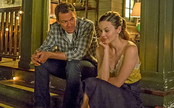 The Affair season 3, episode 1 - Nov. 20, 2016 Dominic West as Noah Solloway and Sarah Ramos as Audrey