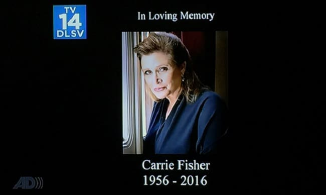 Family Guy Carrie Fisher RIP