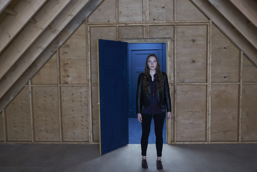 "CHANNEL ZERO: NO END HOUSE -- ""This Isn't Real"" Episode 107 -- Pictured: (l-r) -- (Photo by: Allen Fraser/Syfy)"