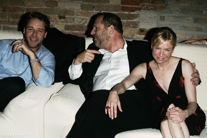 Harvey Weinstein Renee Zellweger és Russell Crowe társaságában